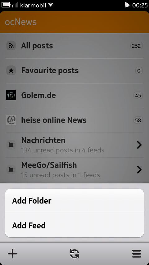 ocNews 1.0.1 Main View
