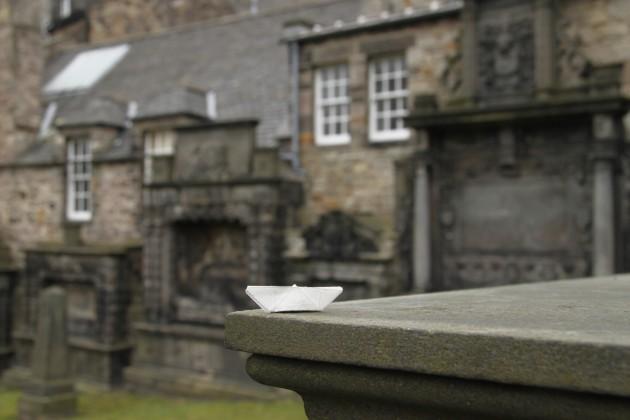 Das Schiffchen auf Greyfriars Cemetery, wo Bobby begraben liegt.