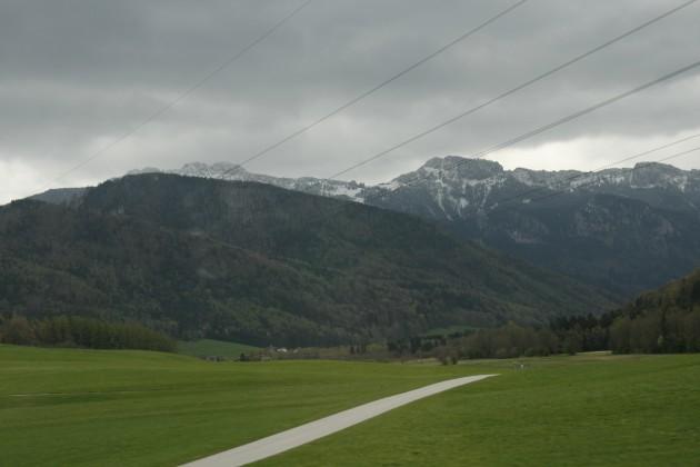 Unterwegs auf der A8 zwischen München und Salzburg