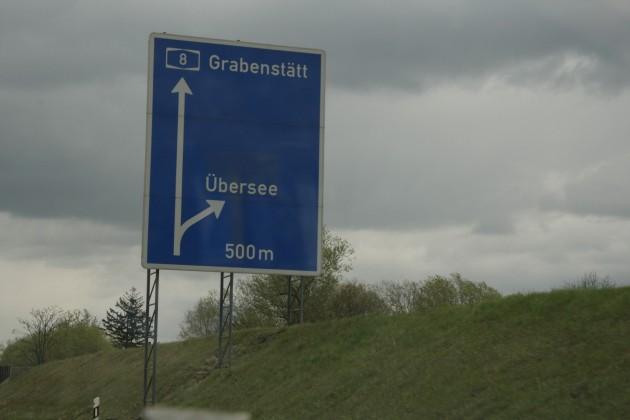 Unterwegs auf der A8 zwischen München und Salzburg, oder auf nach Übersee