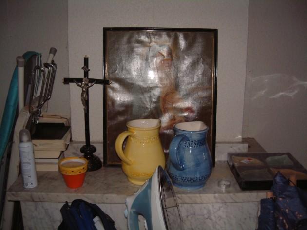 Unser Zimmer im Pfarrhaus von Baziege