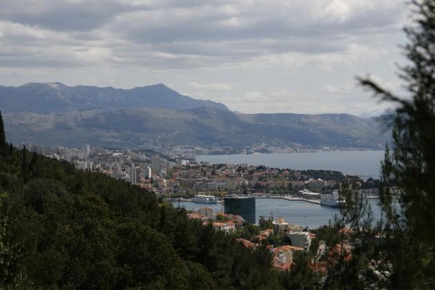 Blig vom Rand des Marjan auf Split