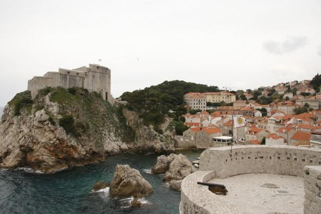 Festung Dubrovnik, Blick auf die kleine Festung Lovrjenac