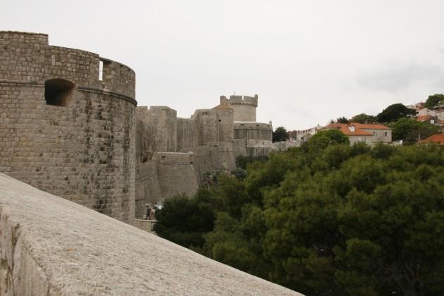 Festung Dubrovnik, die nördlichen Wälle und Bastionen