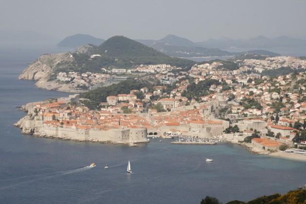 Postkartenblick auf die Altstadt von Dubrovnik