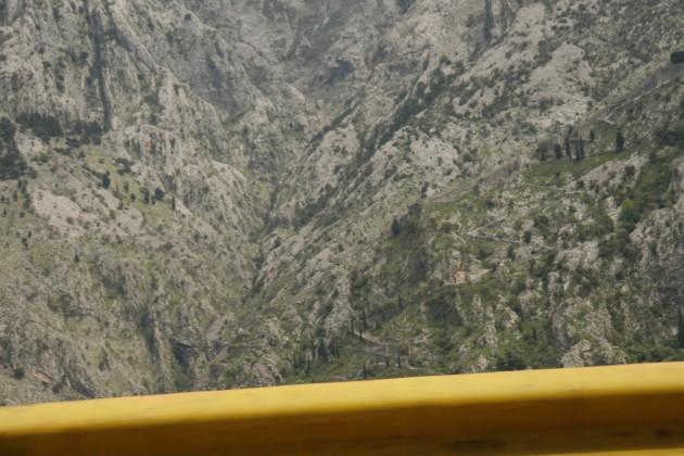 In den Bergen bei Kotor in Montenegro