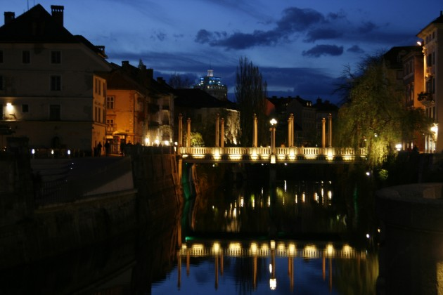 An der Ljubljanica Promenade in Laibach