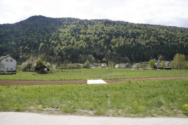 Unterwegs in Slowenien auf dem Weg von Ljubljana nach Split in Kroatien auf der Straße 106