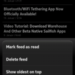 ocNews MeeGo 1.5.0 Sorting View