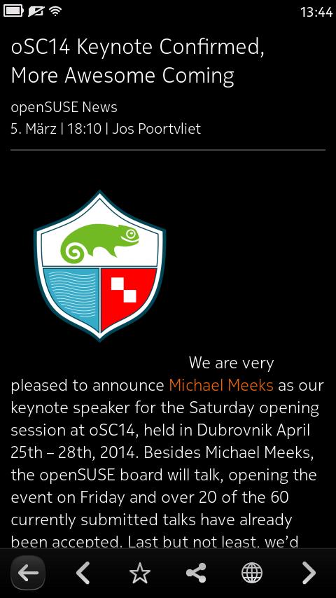 ocNews MeeGo 1.8.0 ItemView
