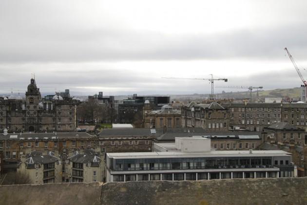 Blick über Edinburgh vom Schloss aus.