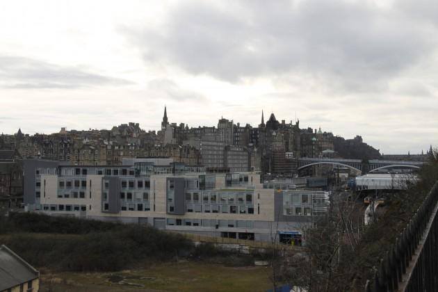 Blick auf Edinburgh vom alten Parlament aus.