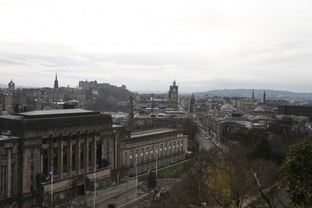 Blick vom Calton Hill auf Edinburgh