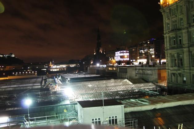 North Bridge Edinburgh, Blick auf Waverley Station