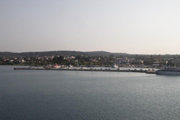 Verlassen des Hafens in Kilini