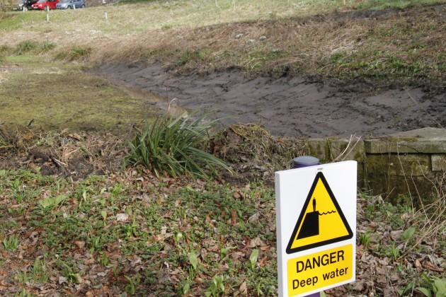Ausgetrockneter Wasserlauf bei Kellie Castle