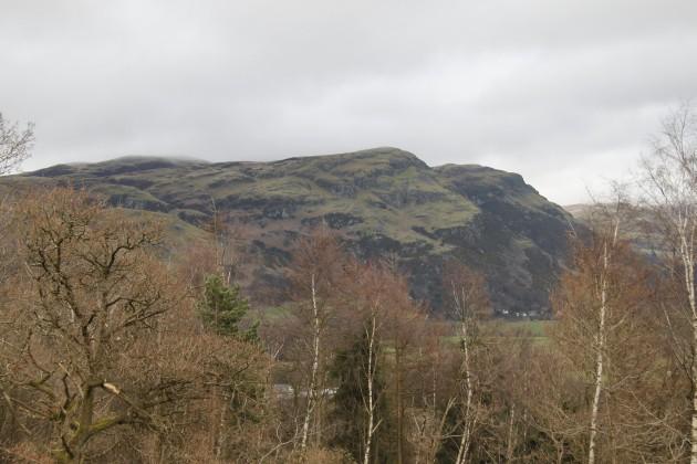 Blick auf die Highlands südöstlich des Wallace Monuments in Stirling