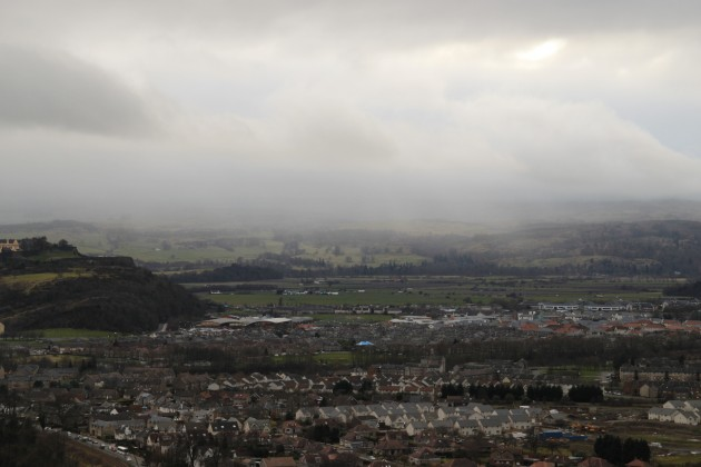Blick vom Wallace Monument auf Stirling