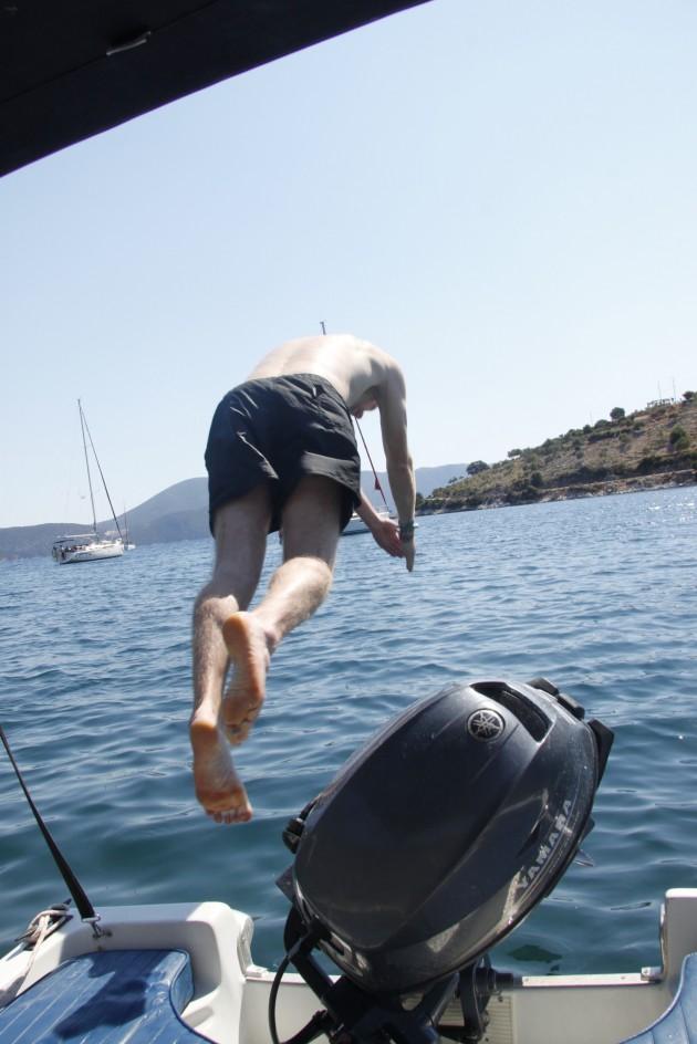 Bootsfahrt von Agia Effimia der Küste entlang nach Norden