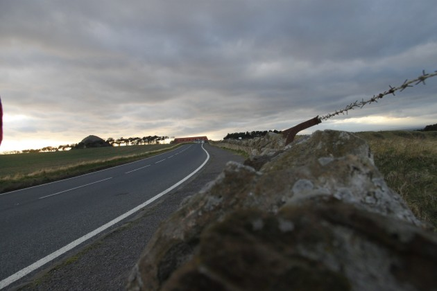 Straße zwischen North Berwick und Canty Bay