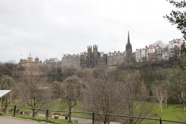 Princes Street Gardens, Blick zur Altstadt