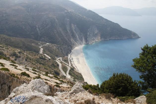 Blick auf den Strand von Myrtos