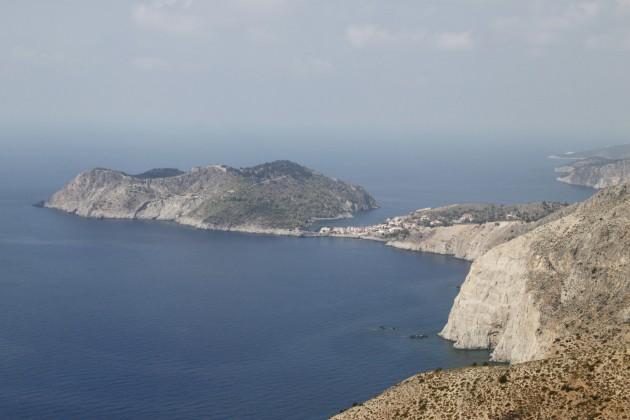 Festungsinsel Assos von Süden gesehen