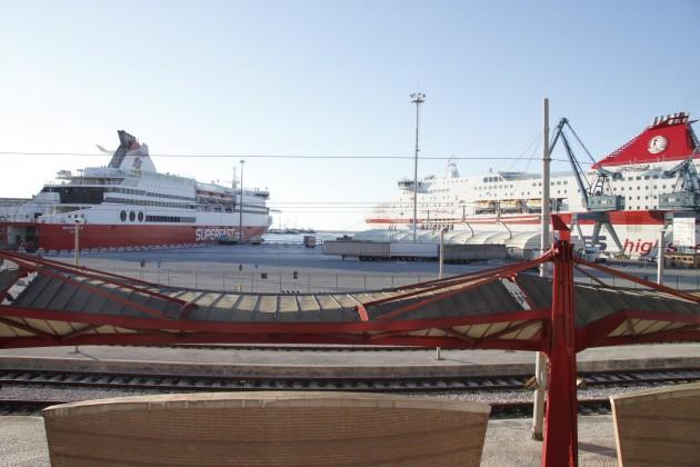 Blick auf den Hafen von Ancona
