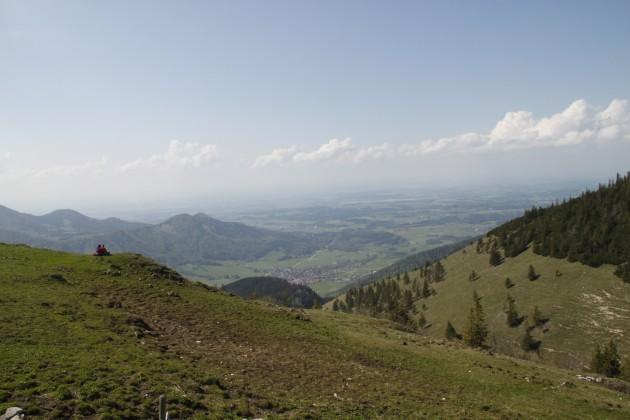 Steinlingalm, Blick auf Aschau