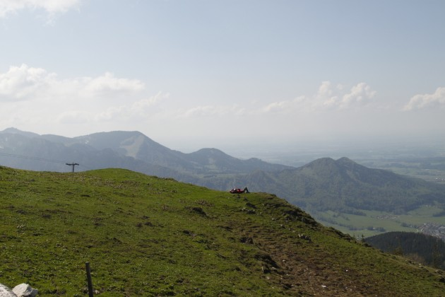 Steinlingalm, Blick nach Westen