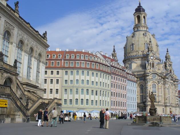 Auf dem Neumarkt in Dresden