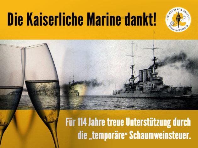 114 Jahre Schaumweinsteuer